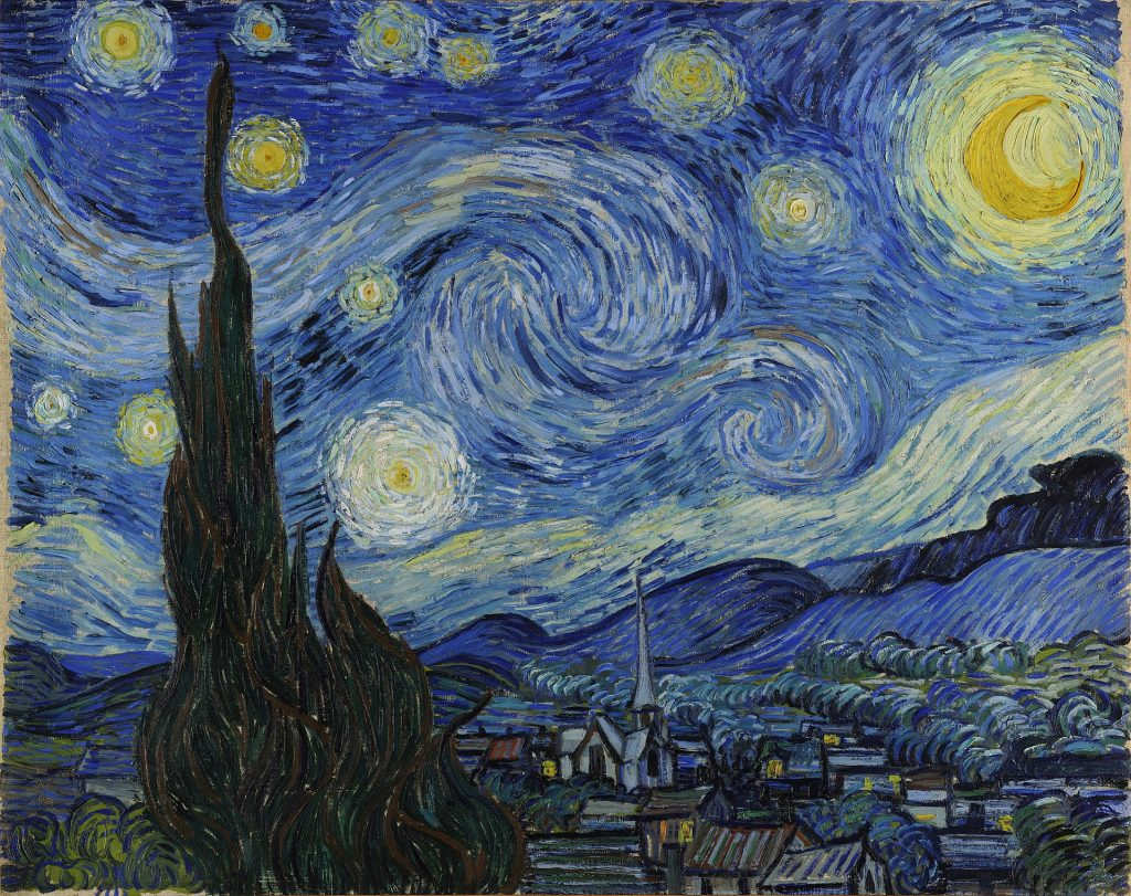 The Starry Night, Vincent Van Gogh, 1889, The Museum of Modern Art, New York, USA