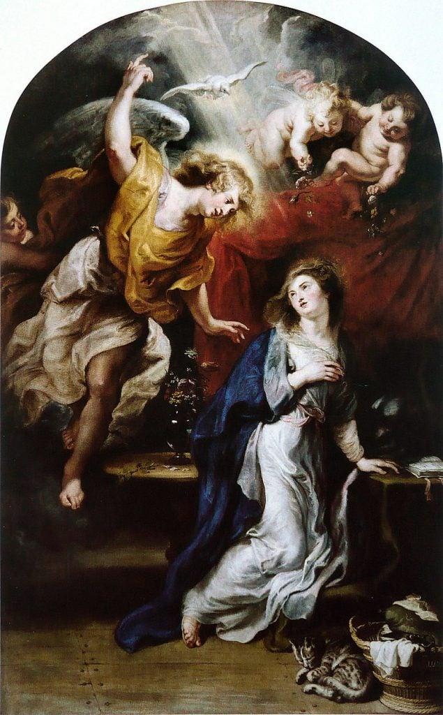 Peter Paul Rubens (1577-1640), The Annunciation, Rubenshuis, Antwerpen, Belgium