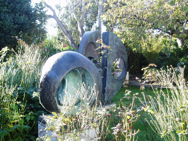 destination st ives -Sphere with Inner Form, Barbara Hepworth, 1963, The Barbara Hepworth Museum, St Ives, Cornwall, England