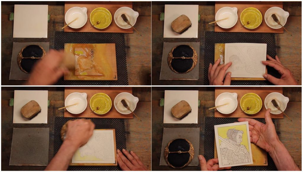 Captions from Woodblock Printing Process ... in 3-D spatial audio, Posted by David Bull, via YouTube, 1 Jul 2021