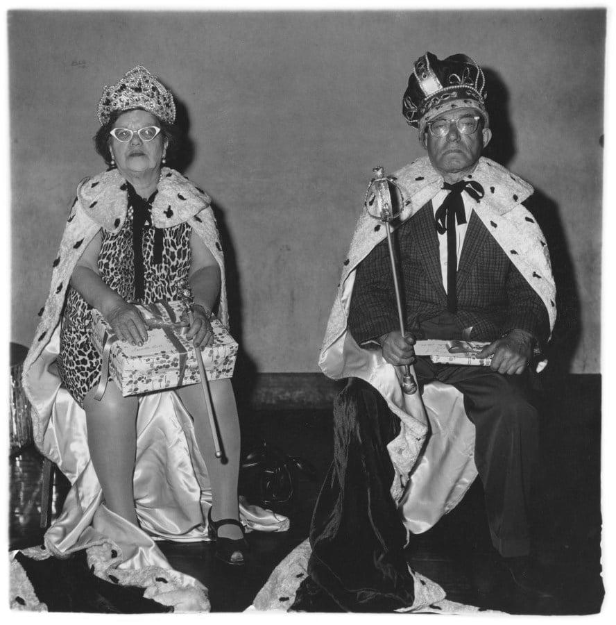 Diane Arbus, The queen and king of seniors citizens' dance, N.Y.C. 1970. Copyright © Estate of Diane Arbus