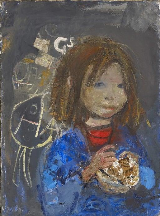 Joan Eardley, Girl With A Poke Of Chips, 1960-63