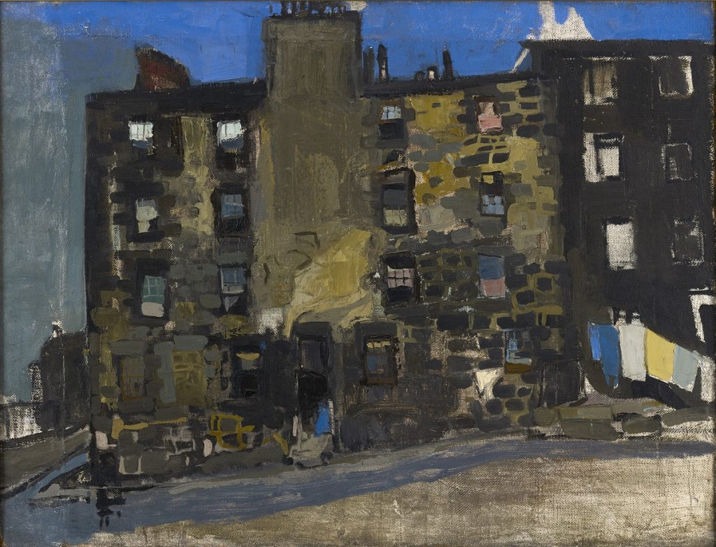 Joan Eardley, Glasgow Tenement, Blue Sky, 1956, private collection
