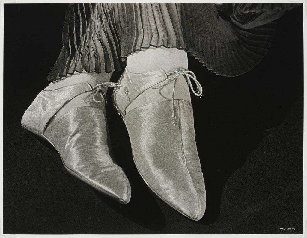 Ilse Bing, Shoes for Harper's Bazaar, 1935, Victoria and Albert Museum, London, UK. women photographers