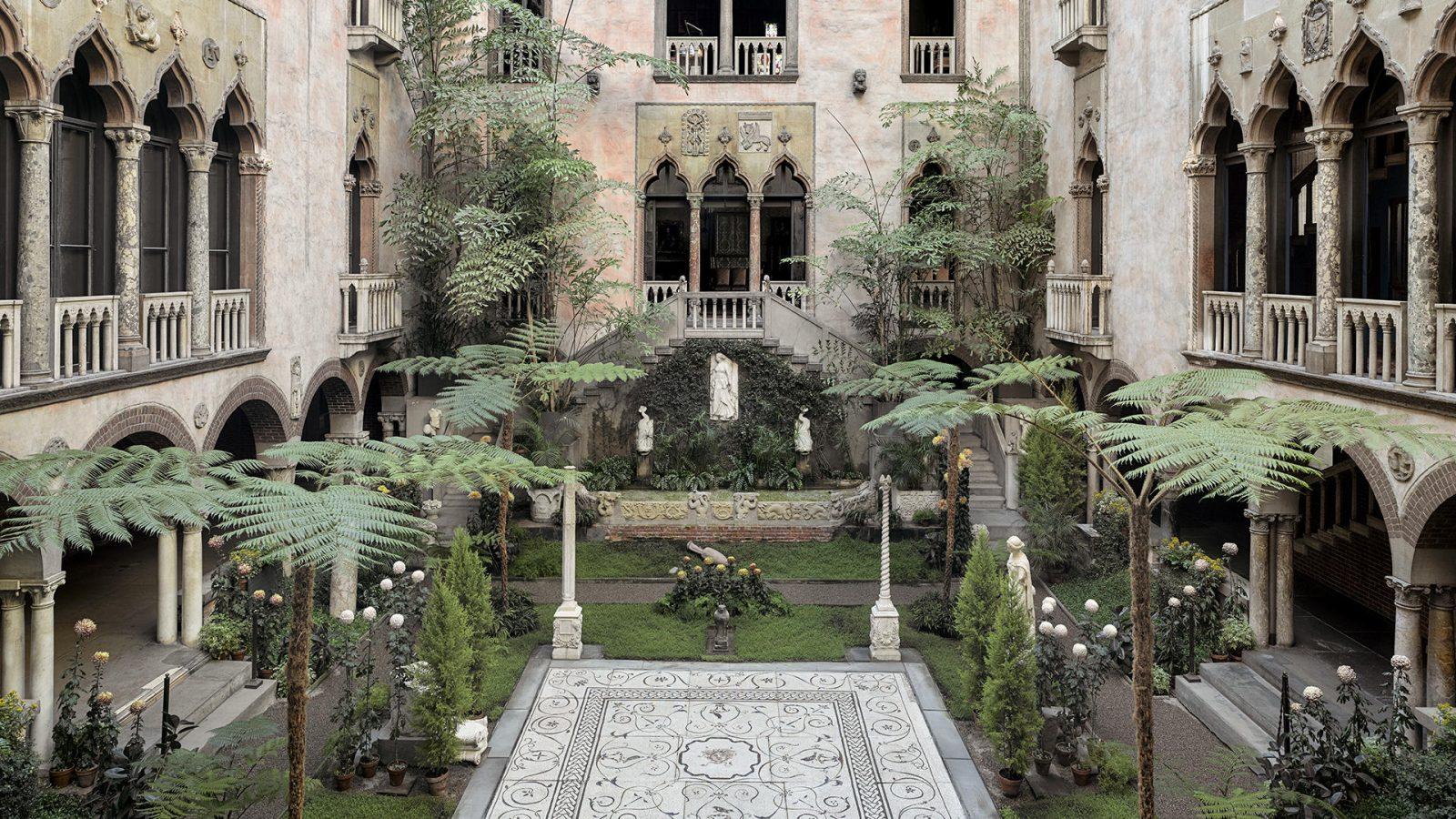 Courtyard, Isabella Stewart Gardner Museum, Boston. Photo: Sean Dungan
