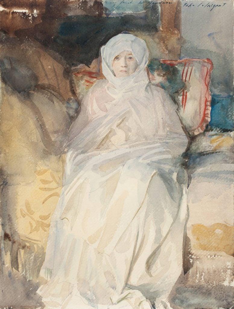 John Singer Sargent, Mrs. Gardner in White, 1922, Isabella Stewart Gardner Museum, Boston, USA
