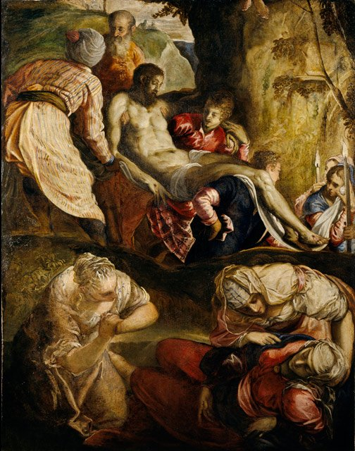 Mexican color. Jacopo Tintoretto, Christ carried to the tomb, 1550, National Galleries of Scotland, Edinburgh, Scotland.