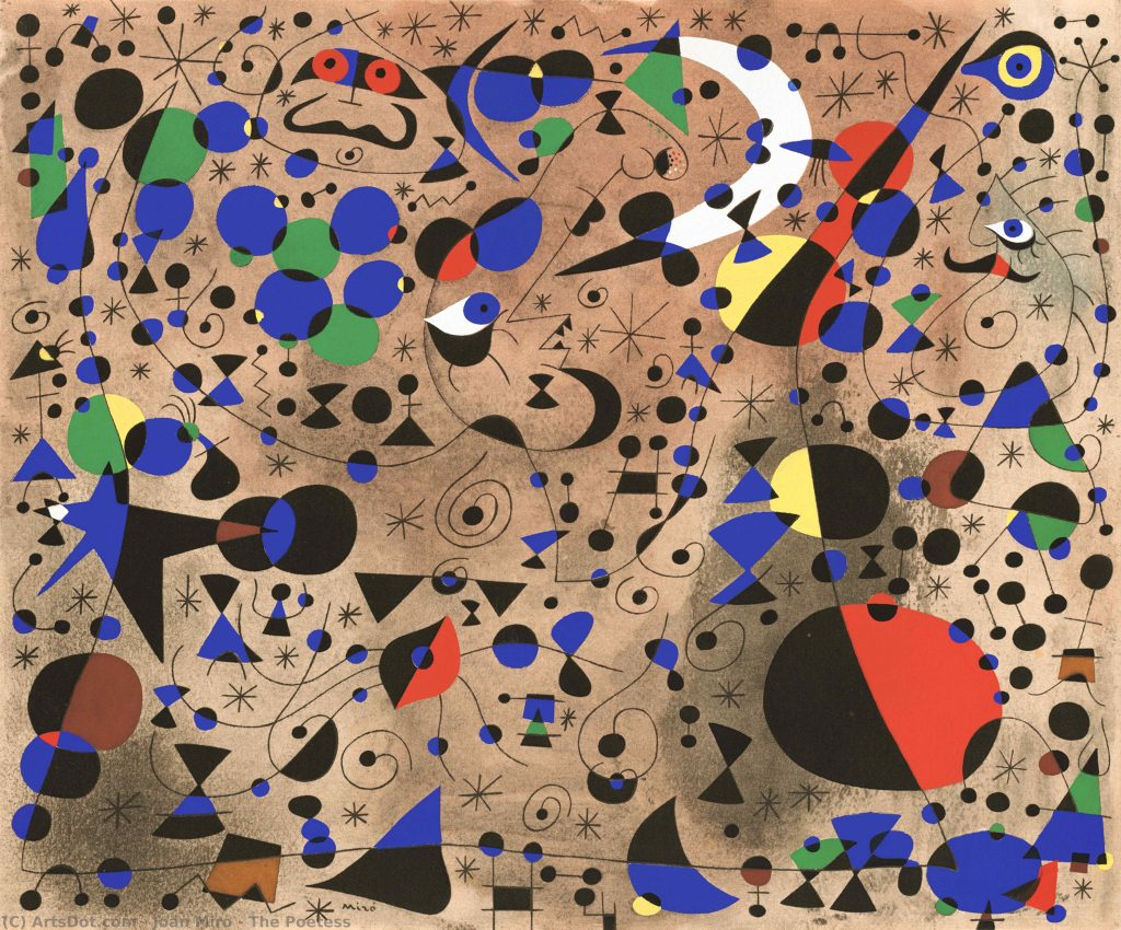 Joan Miró, The Poetess, 1940, private collection.