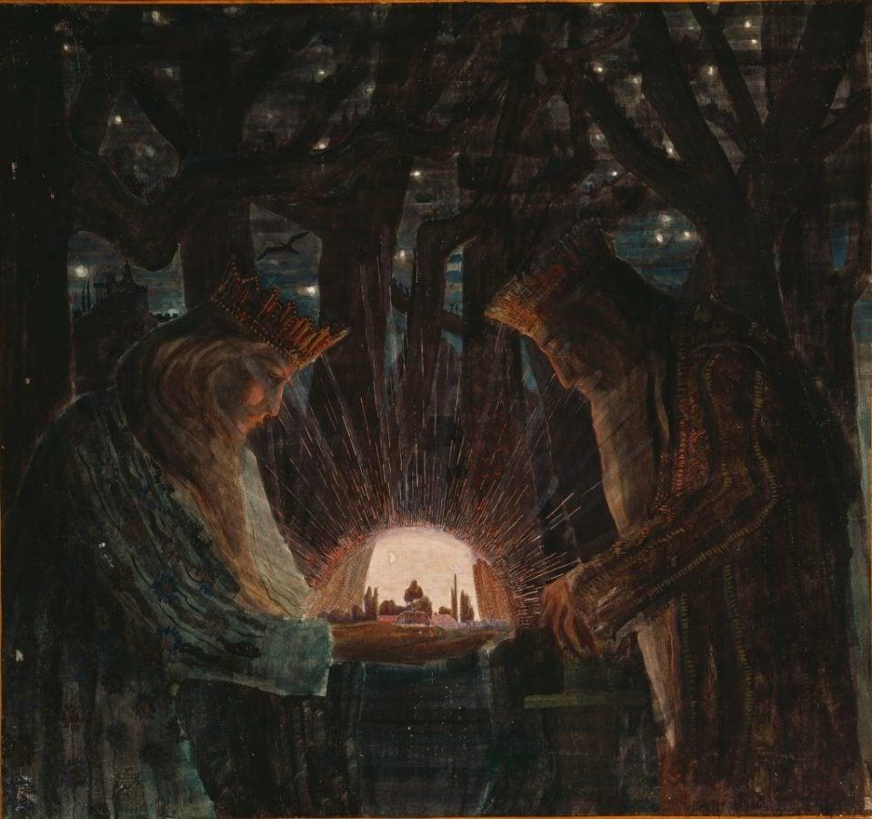 Čiurlionis fairy tale, M. K. Čiurlionis, Karaliu Pasaka, 1909, M. K. Čiurlionis National Art Museum, Kaunas, Lithuania.