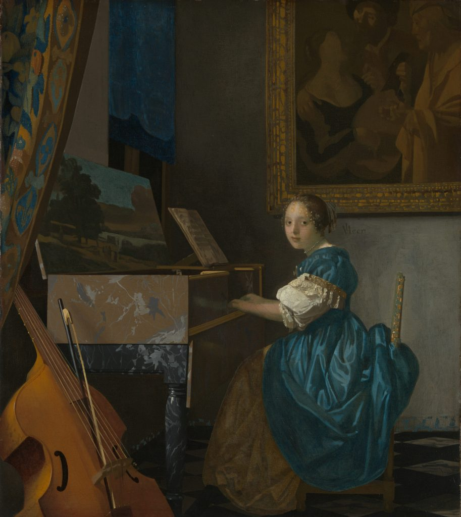 Johannes Vermeer, Lady Seated at a Virginal, c.1672, The National Gallery, London, UK.