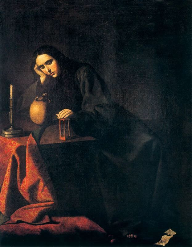 Mexican color. Francisco de Zurbarán, The Penitent Magdalene, 17th century, Real Academia de San Fernando, Madrid, Spain.