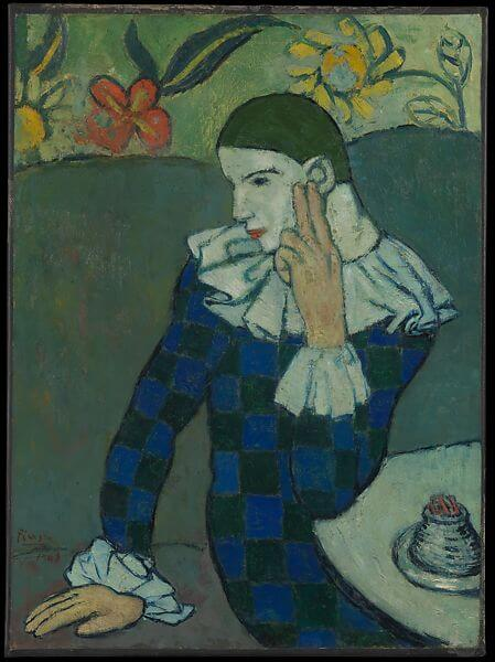 Pablo Picasso, Seated Harlequin, 1901, The Metropolitan Museum of Art, New York, NY, USA.