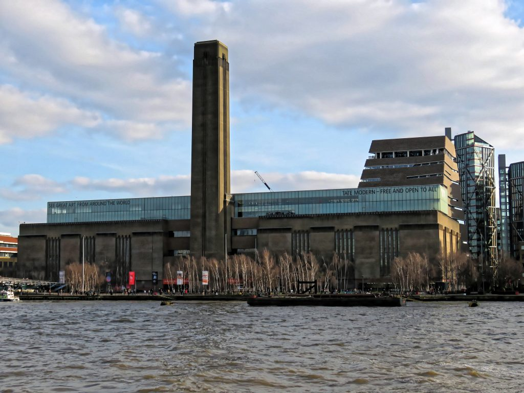 Tate Modern in London housed in the former Bankside Power Station. London Art Museums