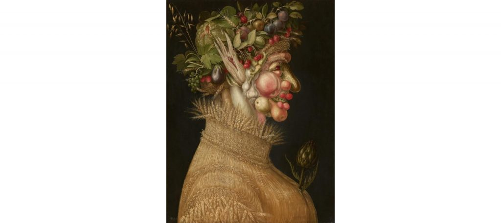 Synesthesia, Giuseppe Arcimboldo, Summer, 1563, Kunsthistorisches Museum, Wien, Austria.