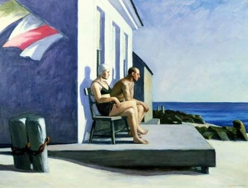 Edward Hopper, Sea Watchers, 1952, private collection.
