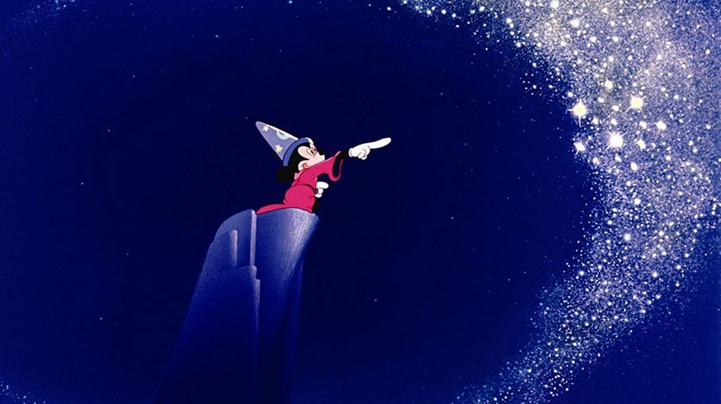 A screenshot from Disney's Fantasia, 1940. Walt Disney Pictures.