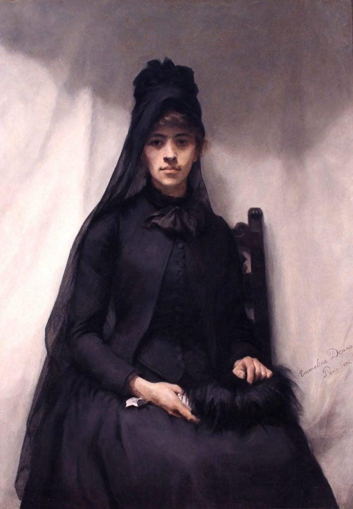Emmeline Deane, Anna Bilinska, 1886, Victoria Art Gallery, Bath, UK. dailyart birthday