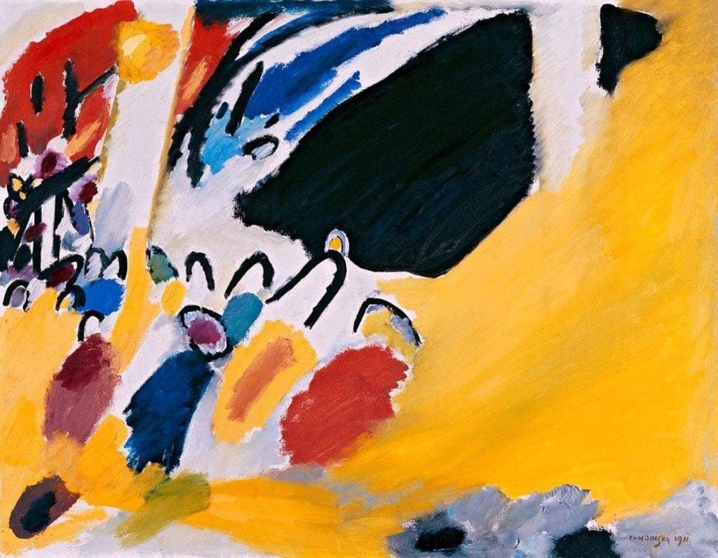 Synesthesia, Wassily Kandinsky, Impression III (Concert), 1911, The Städtische Galerie im Lenbachhaus, Munich, Germany.