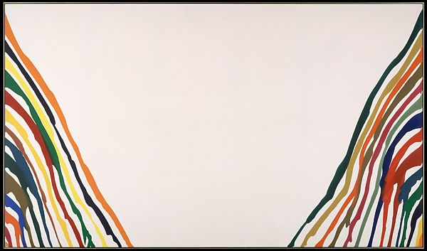 Morris Louis, Alpha-Pi, 1960, The Metropolitan Museum, New York, NY, USA. color field painting