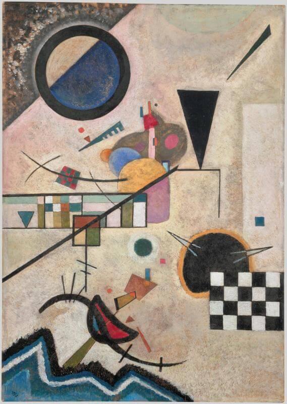 Synesthesia, Wassily Kandinsky, Gegenklänge (Opposing Accords), 1924, Centre Pompidou, Paris, France.