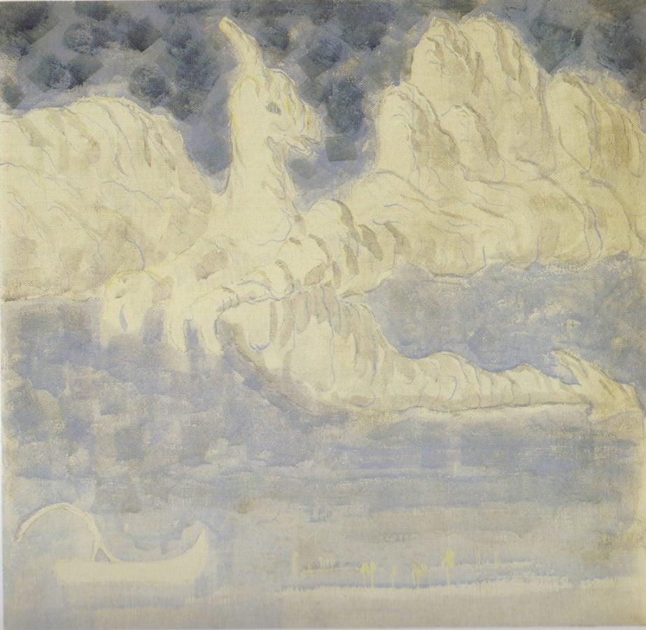 Čiurlionis fairy tale, M. K. Čiurlionis, Princo Kelione II, 1907, M. K. Čiurlionis National Art Museum, Kaunas, Lithuania.