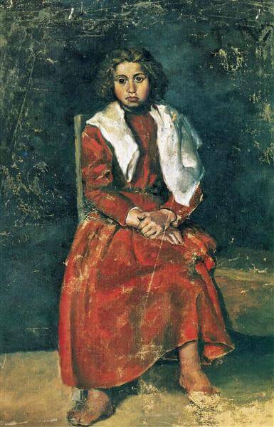 Pablo Picasso, The barefoot girl, 1895, Musée Picasso, Paris, France.