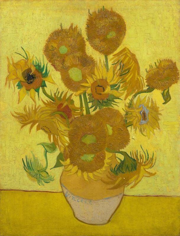 Synesthesia, Vincent Van Gogh, Sunflowers, 1889, Van Gogh Museum, Amsterdam, Netherlands.