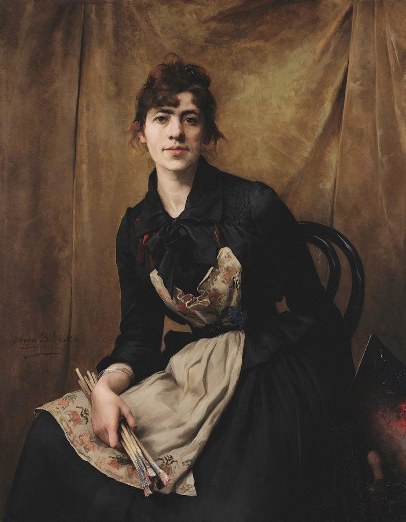 Anna Bilińska, Self-portrait, 1887, National Museum in Kraków, Kraków, Poland.