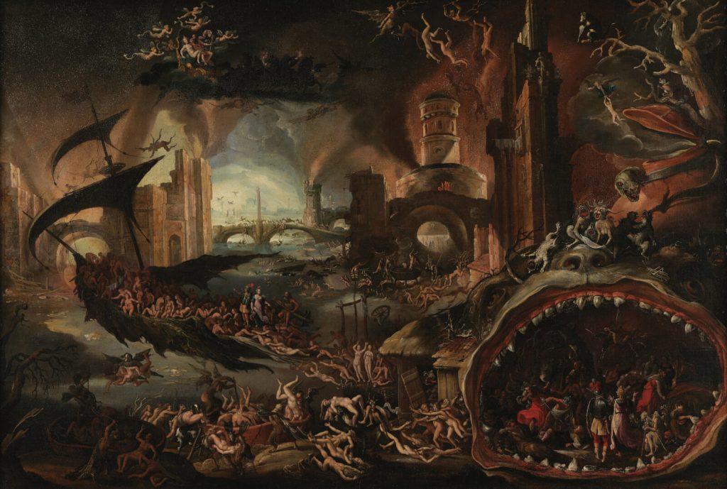 Jacob Isaacsz van Swanenburgh, Aeneas Taken by the Sibyl to the Underworld, 17th century, Musées royaux des Beaux-Arts de Belgique, Brussels, Belgium.