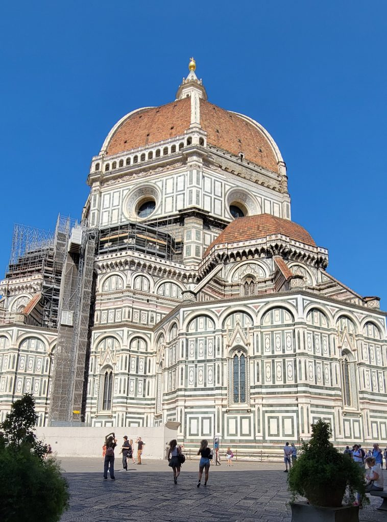 Rearview of the Duomo under restoration in 2021.