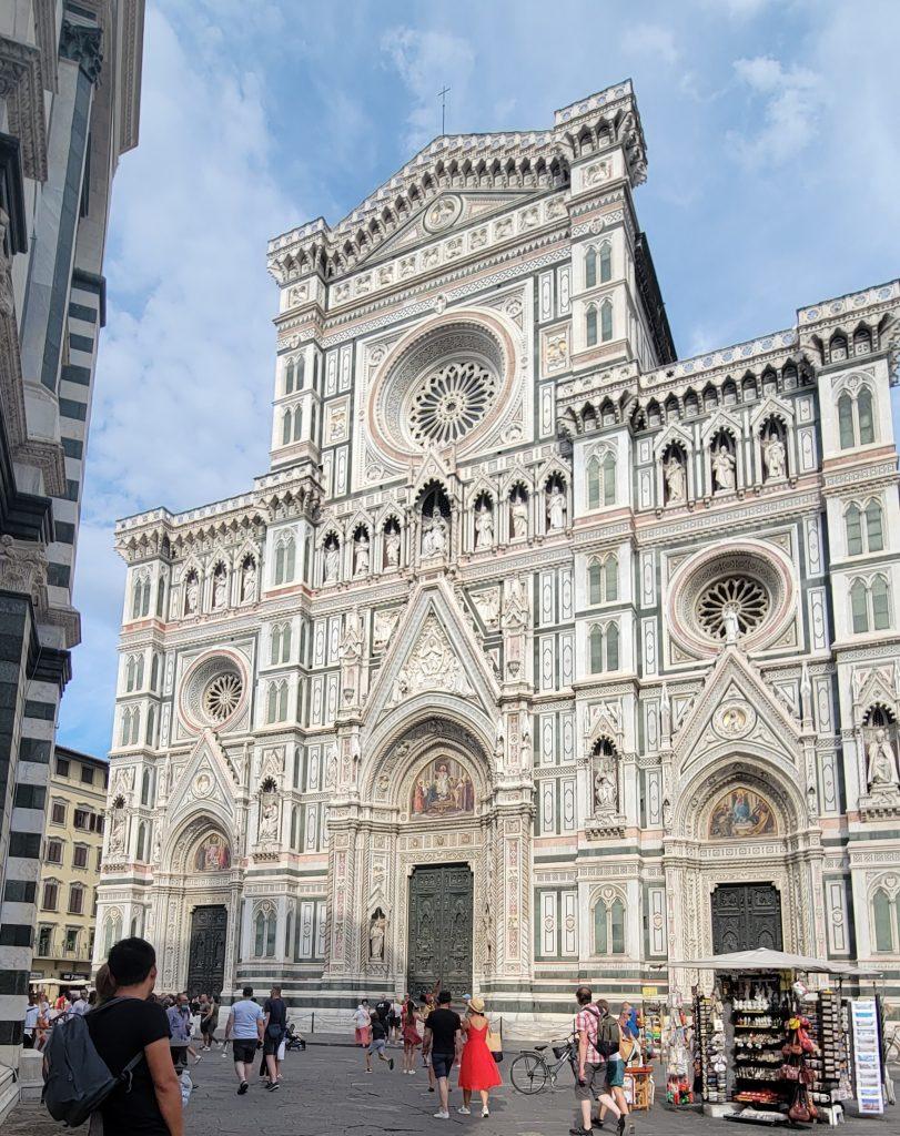 Façade of the Duomo in 2021.