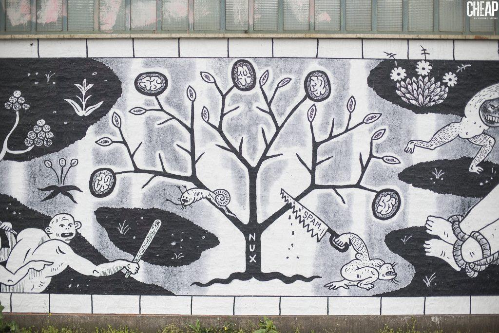 CHEAP street poster art: GUERRILLA SPAM for CHEAP street poster art festival 2017. Bologna, Italy.