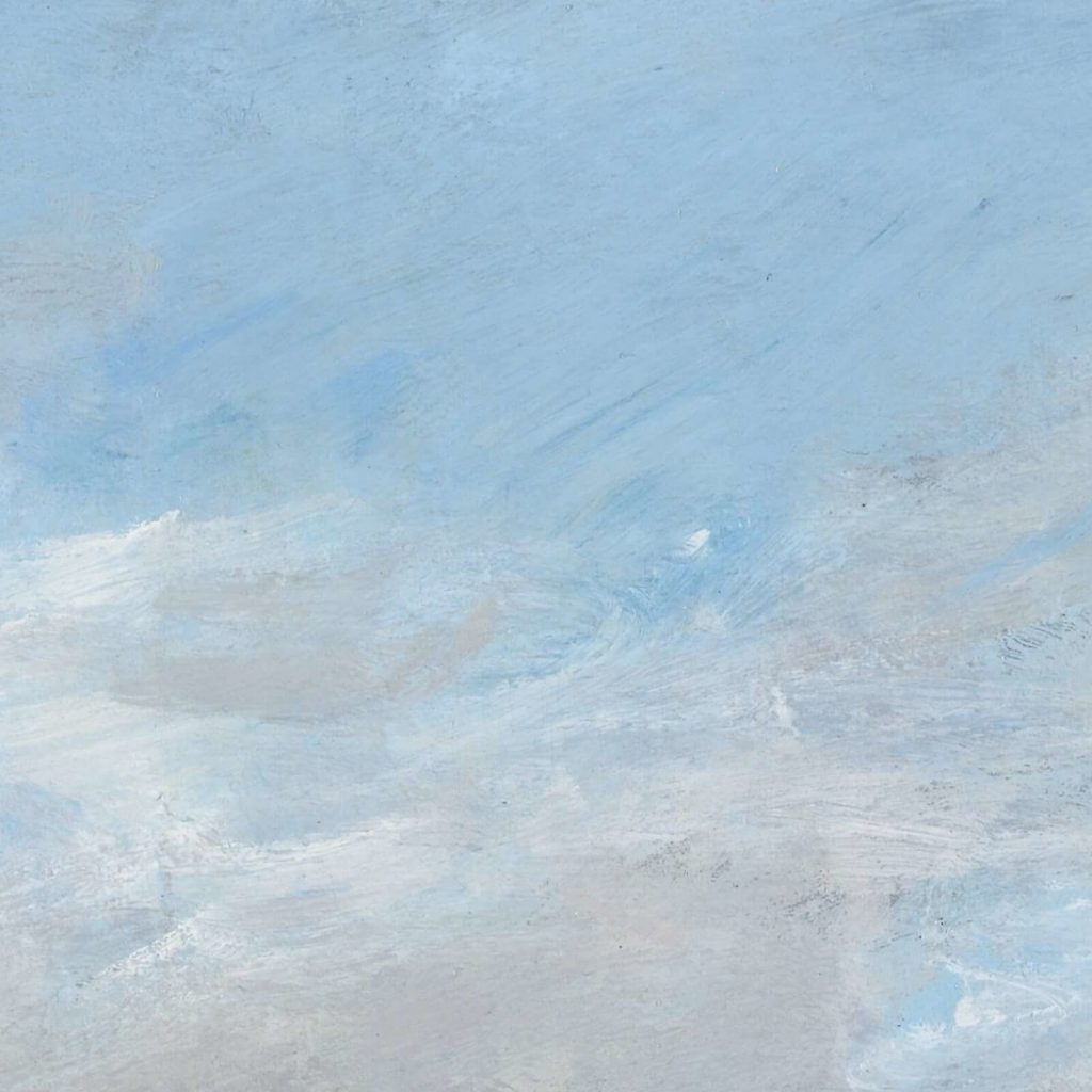 Eugène Boudin, Trouville, Jetties, High Tide, 1876, North Carolina Museum of Art, Raleigh, USA. Detail of Sky.