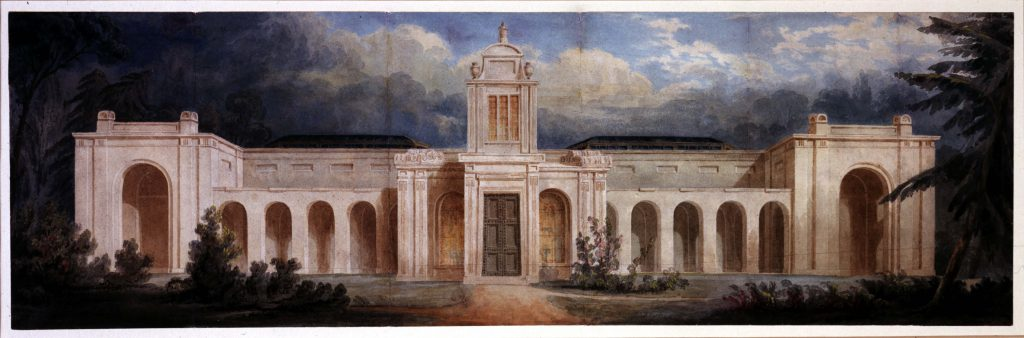 J. M. Gandy, Ideal View of Dulwich Picture Gallery, 1823, Dulwich Picture Gallery, London, UK.