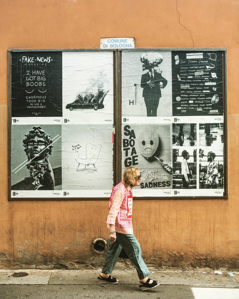 CHEAP street poster art: Photo from 2018 CHEAP's call for artists. Bologna, Italy.