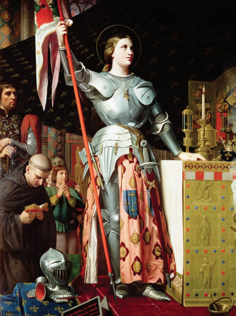 Jean-Auguste-Dominique Ingres, Joan of Arc at the Coronation of Charles VII, ca. 1854, Louvre, Paris, France. Troubadour Style