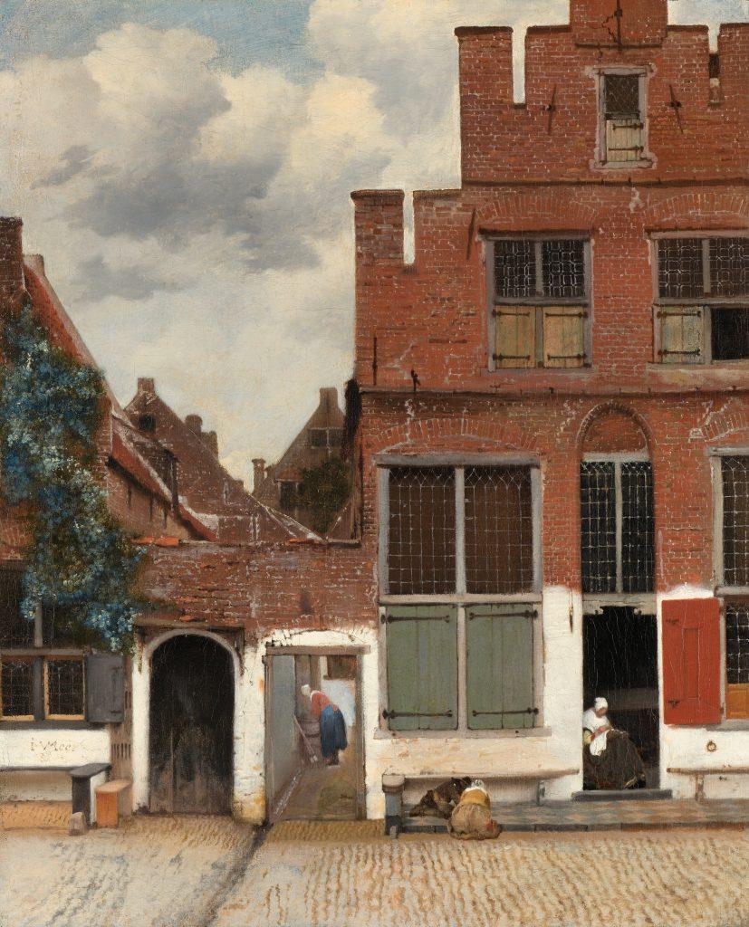 Johanes Vermeer, The Little Street, 1657-58, Rijksmuseum, Amsterdam, The Netherlands. Johannes Vermeer facts: