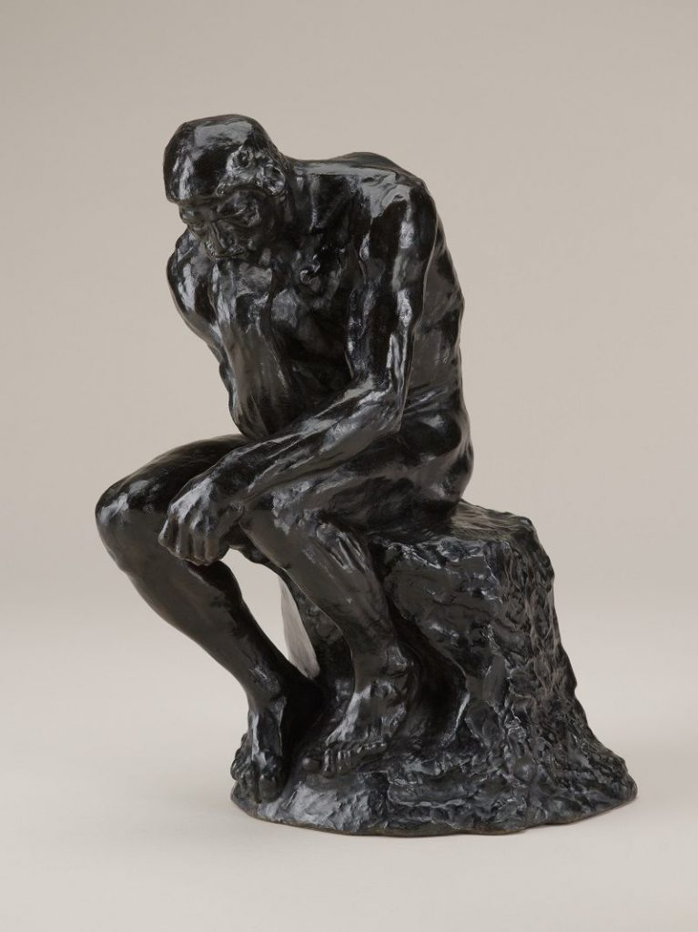 Auguste Rodin, The Thinker, modeled 1880, reduced in 1903, this example cast at a later date, bronze cast from The Gates of Hell, gift of the Iris and B. Gerald Cantor Foundation in honor of Governor Michael F. Easley and Mary P. Easley, North Carolina Museum of Art, Raleigh, NC, USA. Courtesy of North Carolina Museum of Art.