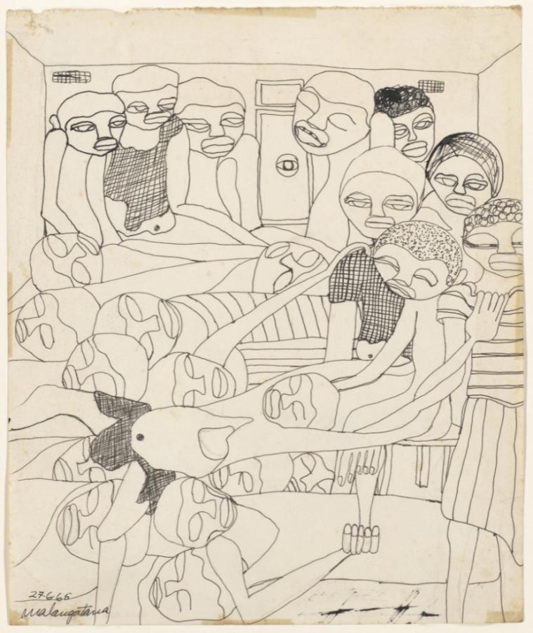 Malangatana Ngwenya, Untitled, 1965, Museum of Modern Art, New York, NY, USA.