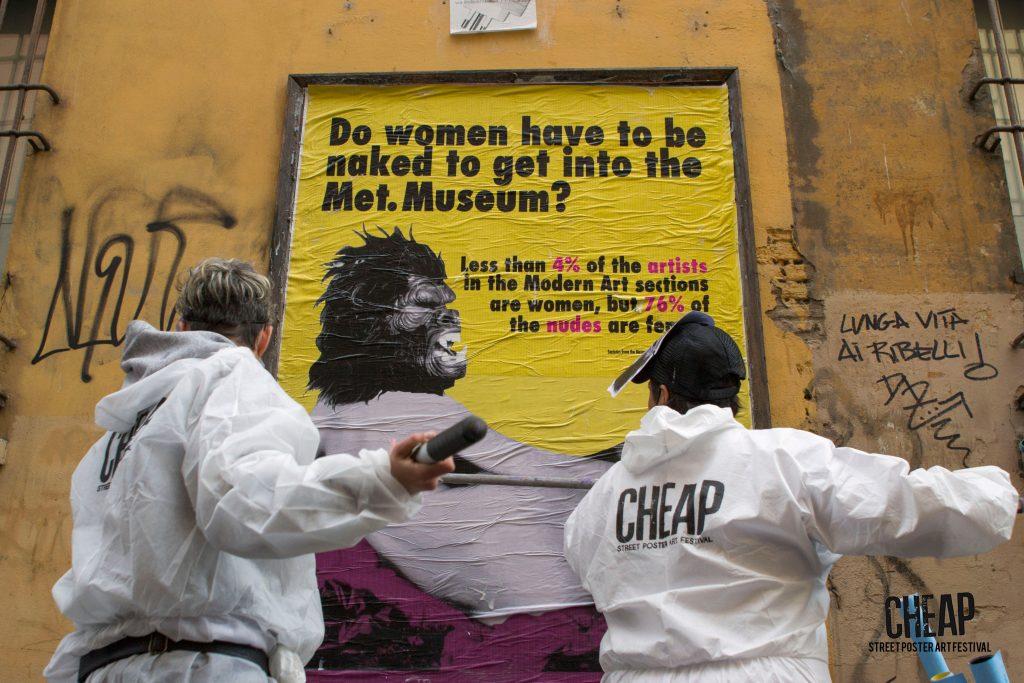 CHEAP street poster art: Guerrilla Girls for CHEAP street poster art festival 2017. Bologna, Italy.