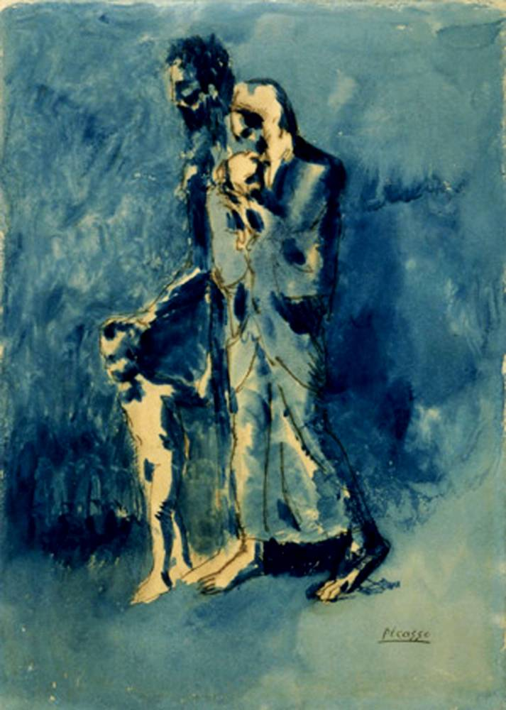 Pablo Picasso, Poverty (Les Misérables), 1903, Whitworth Art Gallery in Manchester, England. Spurce: Manchester's Finest