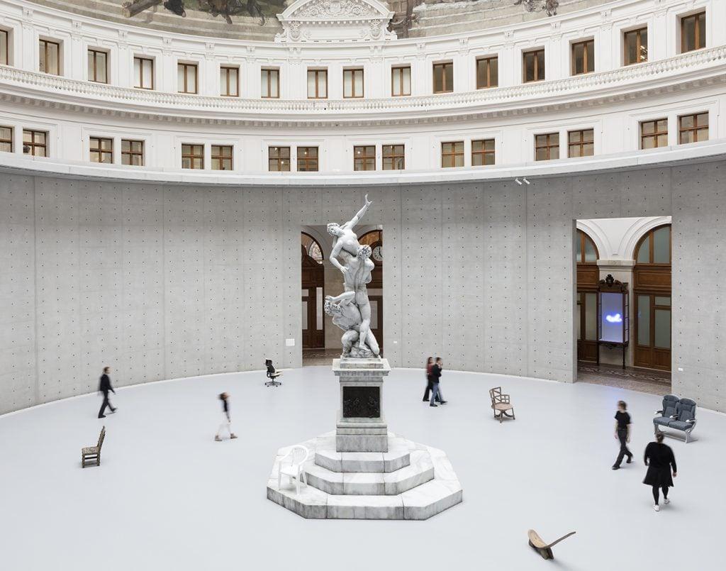 Bourse Museum Paris. Urs Fischer, Untitled (detail), 2011, Bourse de Commerce - Pinault Collection, Paris, France.
