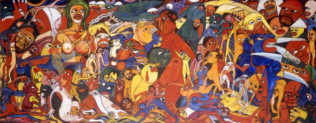 Malangatana Valente Ngwenya, The Cry for Freedom, 1973, Fundação Mário Soares.