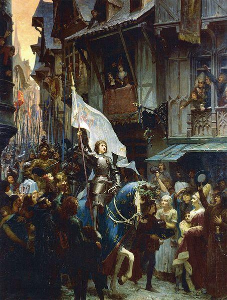 Jean-Jacques Scherrer, Joan of Arc, victorious over the English, enters Orléans, 1887, Musée des Beaux-Arts, Orléans, France. Troubadour Style