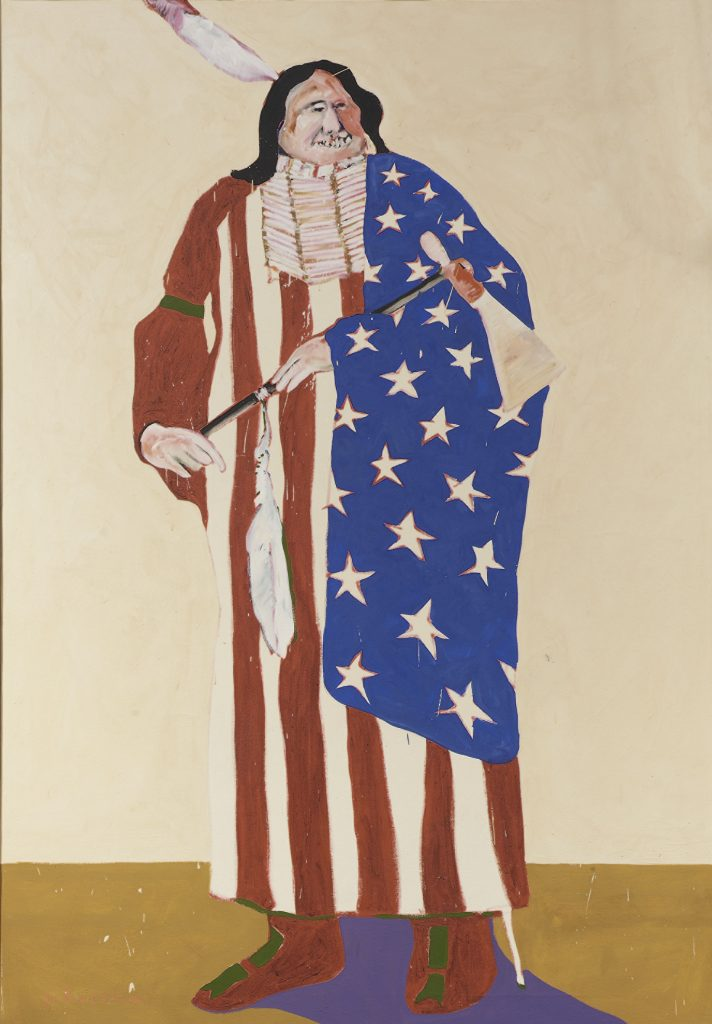 Fritz Scholder (Luiseño, 1937-2005), The American Indian, 1970, National Museum of the American Indian (NMAI), U.S.A.