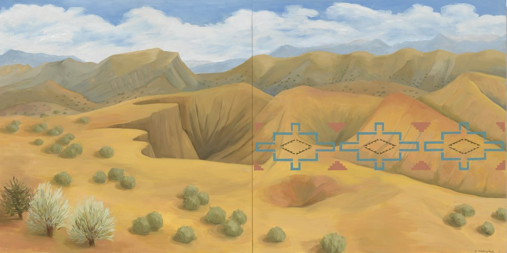 Kay WalkingStick (Cherokee Nation of Oklahoma, b. 1935), New Mexico Desert, 2011, National Museum of the American Indian (NMAI), U.S.A.